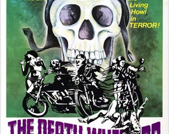 """The Death Wheelers Movie Poster 24x36 """"Howl In Terror"""" Biker Love Motorcycle Action"""