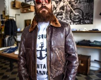 Jacket jacket pilot Aviator horsehide 40