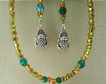 Good Fortune Frogs - Necklace and Earring Set