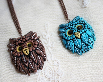 Owl necklace Owl brooch Owl pendant Owl pin Owl magnet Animals brooch Gift  Owl jewelry Animals magnets Bird jewelry Bird pendant