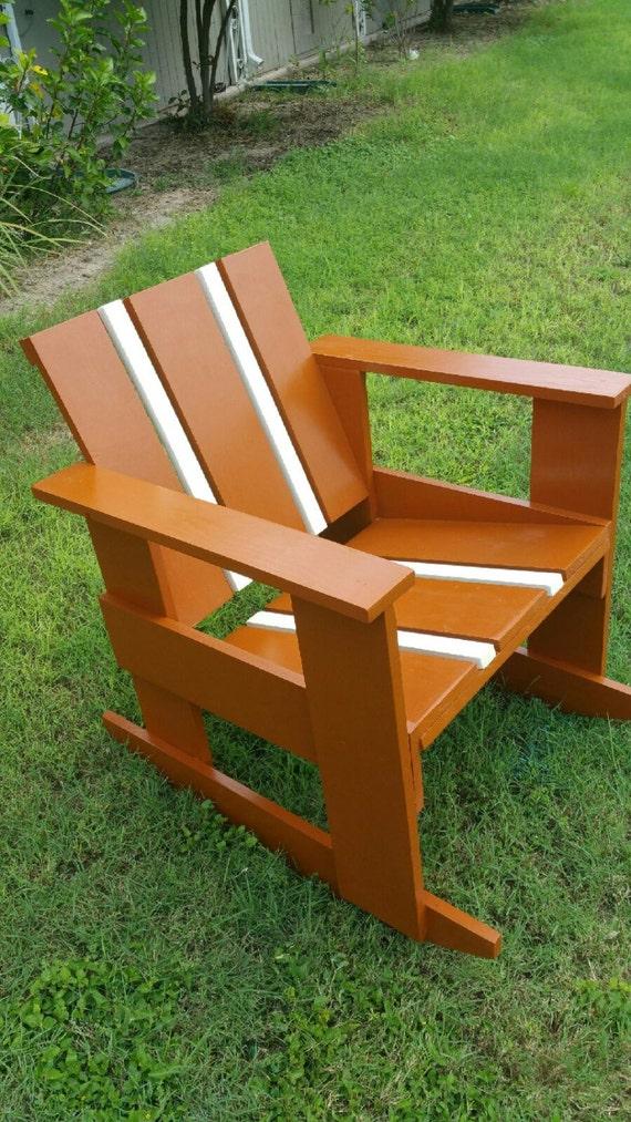 custom made rocking patio chair ut theme texas football team colors