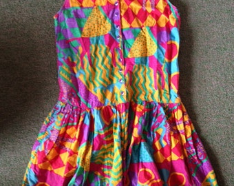 awesome 80's drop waist dress