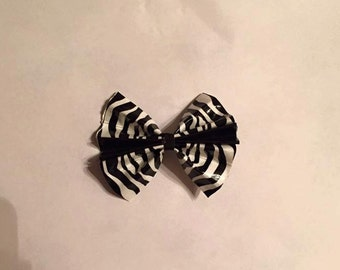 Black and White Zebra Duct Tape Hair Bow