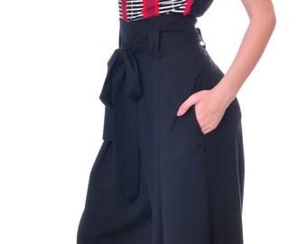 High Waisted Pants, Plus Size Harem Pants, Wide Leg Trousers, Palazzo Pants, Loose Pants, Oversized Pants, Black Trousers, Danellys D14.02.4