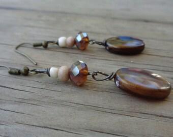 Bohemian brown earrings
