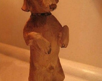 Dachshund - wood carving