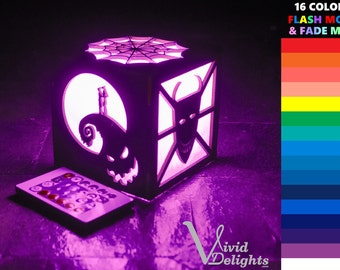 Nightmare Before Christmas inspired Color LED Lantern - Trick or Treaters Box