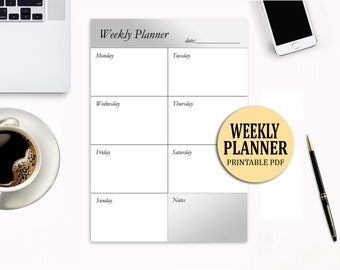 Weekly Planner Printable, Printable weekly planner, Digital weekly planner, Printable weekly schedule, Weekly organizer, To do list
