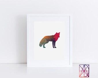 Fox Wall Art fox wall decor | etsy
