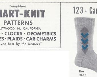 Chart-Knit Sock Pattern 123-Cambridge