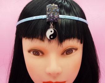 Druzy Blue Yin Yang Crown