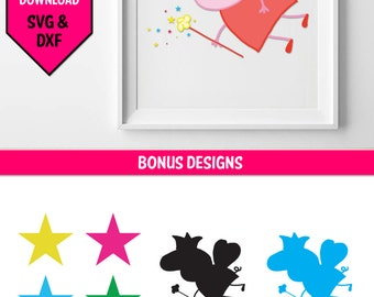 Peppa Pig SVG/ Peppa Pig fairy svg/ svg file for cricut/ paper cut/ Peppa Pig vinyl decal svg file/ svg bundle/ svg files/ silhouette cameo