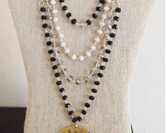 Multi Layers Black Necklace