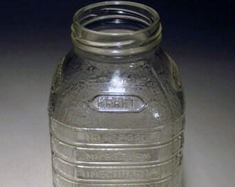 """Vintage """"Kraft"""" Glass Bottle"""