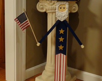 "34""  Uncle Sam Patriotic  reclaimed wood stand up"
