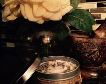 Phrophetic Dreams All Natural Soy Candle//spelling candles for beginners//magical dreams//guard against nightmares//night terrors//witchy