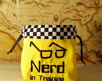 Nerd in Training Dice Bag (Made to Order)