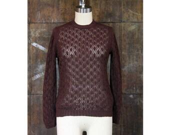 Michelle Sweater- Machine Knit Lace Sweater
