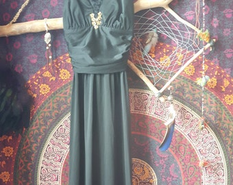 Designer black vintage seventies dress