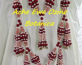 Collar de Mazo Shango/Chango, Mazo Necklace Chango, Santeria, Botanica