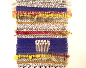 Day for Night handwoven wall hanging