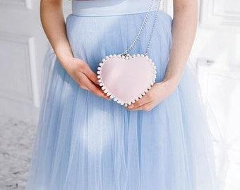 Blue Tulle Skirt Blue Tutu Blue Adult Tulle Skirt