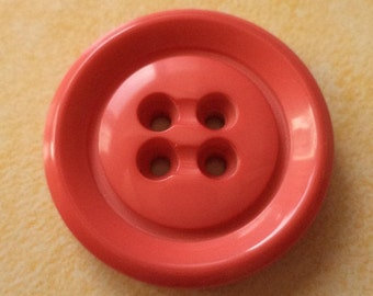 6 large buttons orange 26mm (5184) button