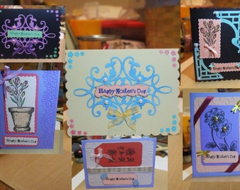 Hand Stamped Mother's Day Cards many to choose from!