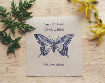 Wildflower Seed Favour Swallowtail Butterfly