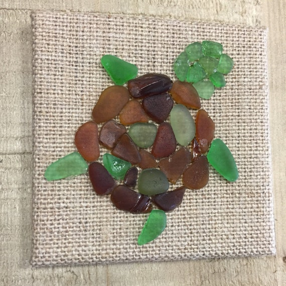 sea glass turtle home decor authentic hand picked sea glass how to make home decor from sea glass how tos diy