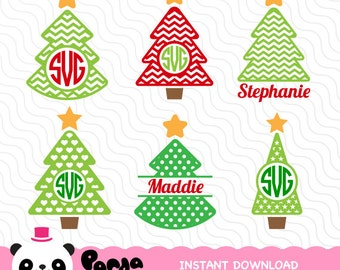 "Shop ""christmas tree monogram svg"" in Scrapbooking Supplies"