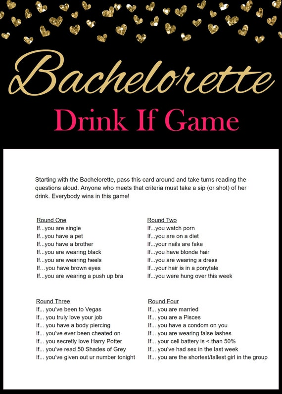 Drink If Bachelorette Game Free