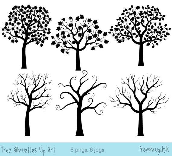 Wedding Tree Silhouette Clip Art Black Fingerprint Tree