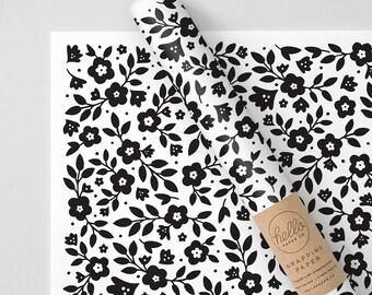 Precious Petunias Wrapping Paper