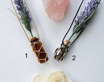 Lavender Potion Bottle Necklace