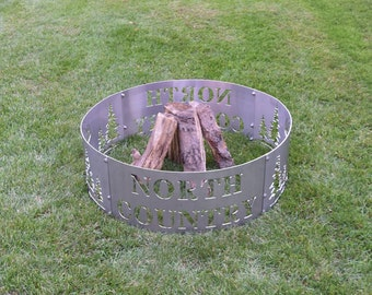 North Country Stainless Steel Fire Ring, Up North, Fire Ring, Fire Pit, Stainless Steel Fire Ring
