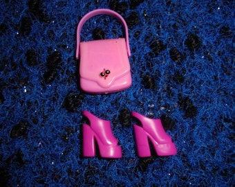 Barbie / 90s / / bag and Pink Shoes / Vintage / rare