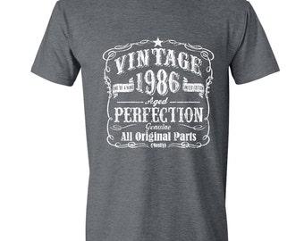 1986 31st Birthday gift ,Dirty Thirty,Turning 31 , 31 Years Old ,Tshirt, gift for 31 year old,31st Birthday Shirt,Dirty Thirty GRAY 1986