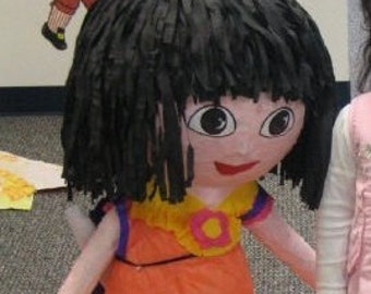 DORA THE EXPLORER pinata. Handmade. New