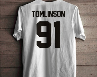 Louis Tomlinson Shirt, Tomlinson 91 T-shirt, One Direction T shirt, Music band shirt 100% cotton unisex