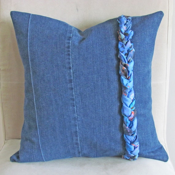Decorative Denim Pillows : Throw Pillow Cover Decorative Pillows Denim by CormeenHomeAccents