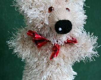 Knitted Teddy Bear hand puppet