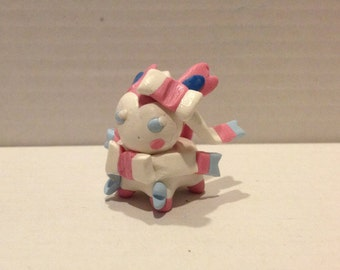 Sylveon Polymer Clay Figurine
