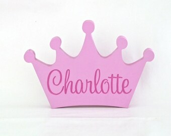 Kids name sign, Wooden name, Princess, Custom wooden name, Baby name sign, Girls name sign, Nursery decor - Princess nursery decor