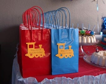 Personalized Train Goody Bags