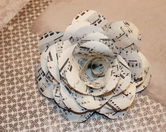 Book Paper Sheet Music Rose Flower