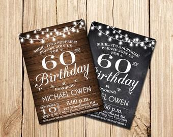 surprise th birthday invitations  etsy, Birthday invitations