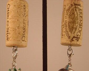 Wine Cork Key Ring