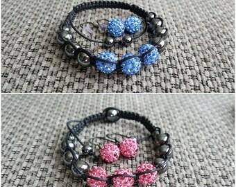 Shamballa style bracelet with earrings