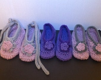 Handmade Crochet Adult size slippers